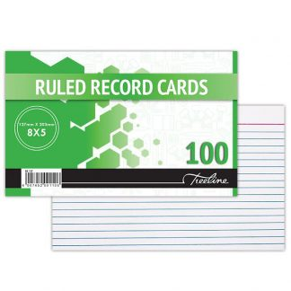 Ruled Record cards (8×5)