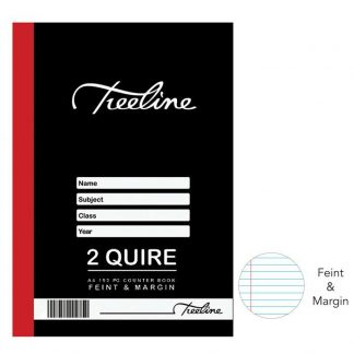 A4 Hardcover Book Feint & Margin 2 Quire