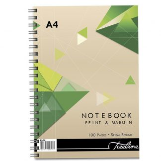A4 Notebook Feint & Margin - Wirebound