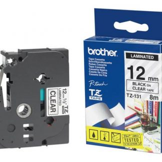 Brother TZ-231 Black on Clear Labeling Tape