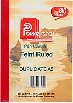 Pen Carbon A5 Feint Ruled Duplicate
