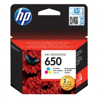 HP 650 Tri-colour Ink Advantage Cartridge