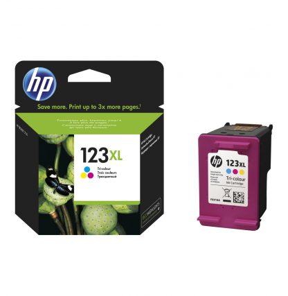 HP 123 XL High Yield Tri-colour Ink Cartridge