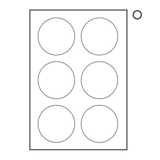 A4 TOWER LABELS W118 - 80dia (6up)