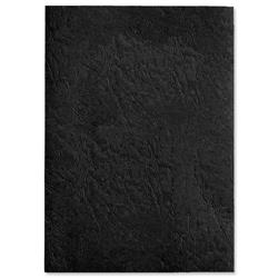 A4 Leather Grain Backing Board Black